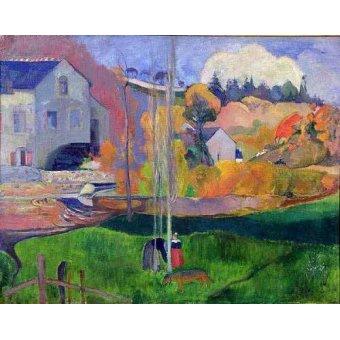 - Cuadro -Paisaje de Bretaña: el molino de Mill- - Gauguin, Paul