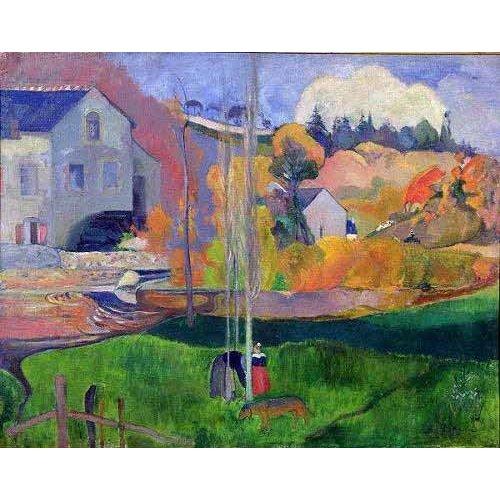 Cuadro -Paisaje de Bretaña: el molino de Mill-
