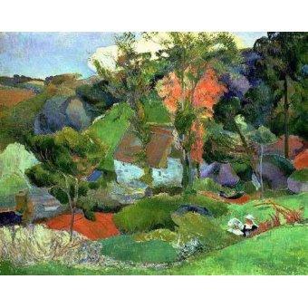 - Cuadro -Paisaje en Pont Aven- - Gauguin, Paul