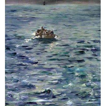 cuadros de marinas - Cuadro -Evasión de Henri de Rochefort- - Manet, Eduard