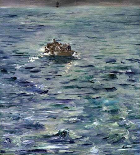 cuadros-de-marinas - Cuadro -Evasión de Henri de Rochefort- - Manet, Eduard
