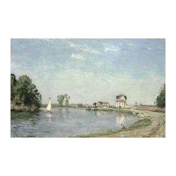 cuadros de paisajes - Cuadro -Al borde del río-