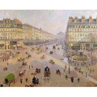 cuadros impresionistas - Cuadro -La Avenida de la Opera, París- - Pissarro, Camille