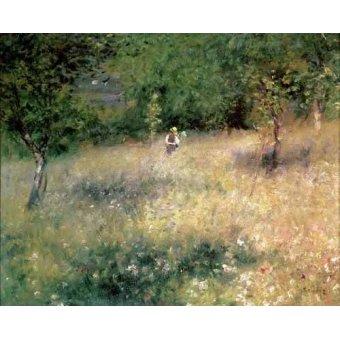 - Cuadro -Primavera en Chatou- - Renoir, Pierre Auguste