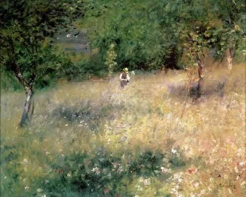 cuadros-de-paisajes - Cuadro -Primavera en Chatou- - Renoir, Pierre Auguste