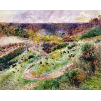- Cuadro -Paisaje en Wargemont- - Renoir, Pierre Auguste