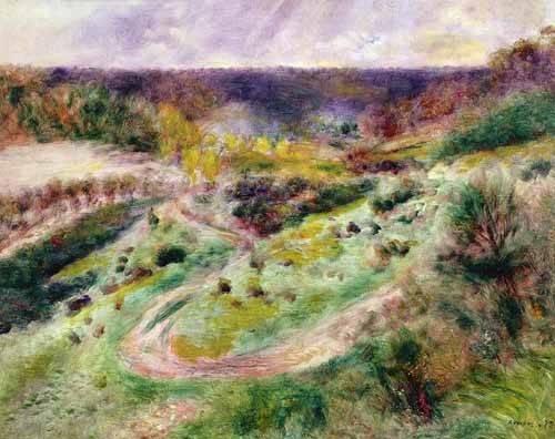 cuadros-de-paisajes - Cuadro -Paisaje en Wargemont- - Renoir, Pierre Auguste