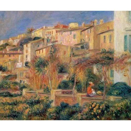 cuadros de paisajes - Cuadro -Terraza en Cagnes-