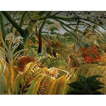 - Cuadro -Tigre en una tormenta tropical- - Rousseau, Henri