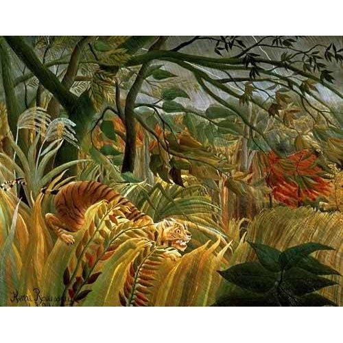 Cuadro -Tigre en una tormenta tropical-