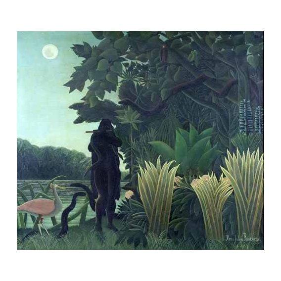 cuadros de paisajes - Cuadro -La encantadora de serpientes-