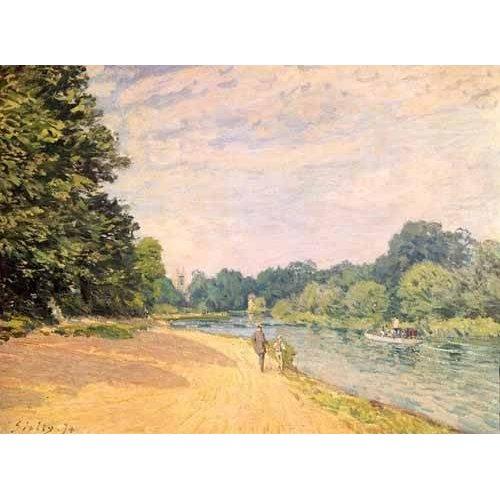 cuadros de paisajes - Cuadro -El Támesis y la Iglesia de Hampton-