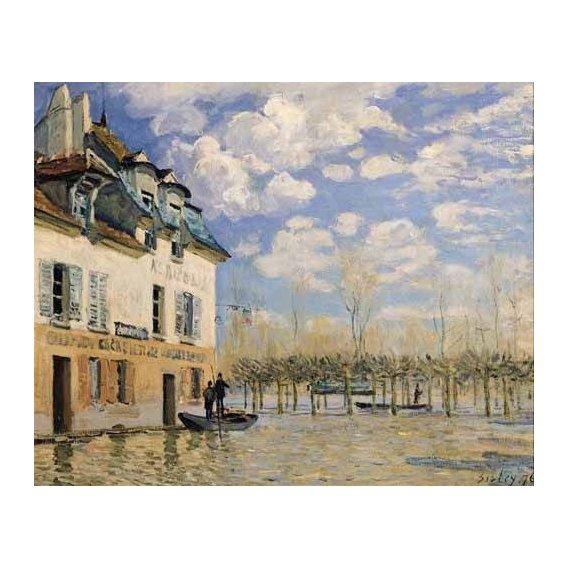 cuadros de paisajes - Cuadro -Inundación en Port-Marly-