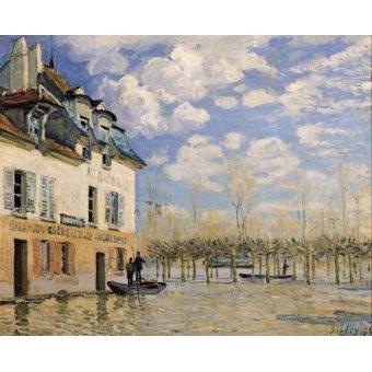 - Cuadro -Inundación en Port-Marly- - Sisley, Alfred