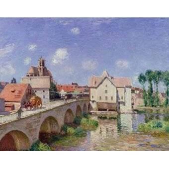 - Cuadro -El puente de Moret- - Sisley, Alfred
