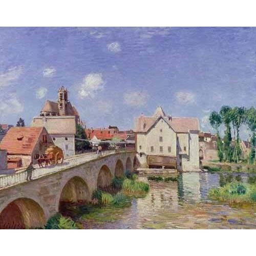Cuadro -El puente de Moret-