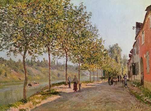 cuadros-de-paisajes - Cuadro -Mañana de Junio en Saint-Mammes- - Sisley, Alfred