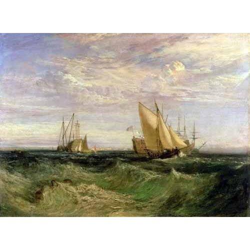 cuadros de marinas - Cuadro -La confluencia entre el Tamesis y el Medway-