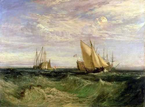 cuadros-de-marinas - Cuadro -La confluencia entre el Tamesis y el Medway- - Turner, Joseph M. William