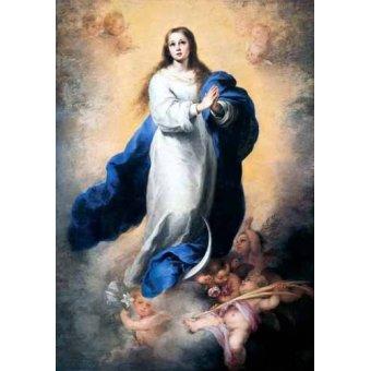 - Cuadro -Inmaculada Concepción del Escorial- - Murillo, Bartolome Esteban
