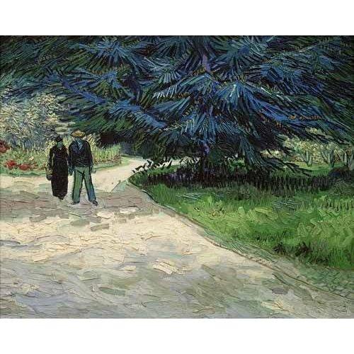 cuadros de paisajes - Cuadro -Pareja en un parque de Arles-