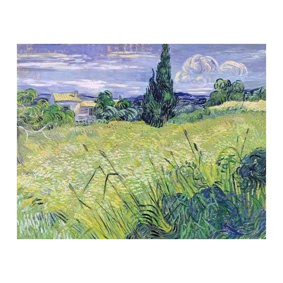 cuadros de paisajes - Cuadro -Paisaje con maíz verde-