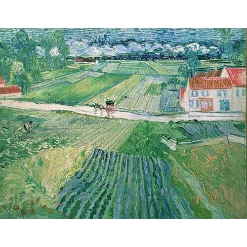 cuadros de paisajes - Cuadro -Paisaje en Auvers despues de llover-