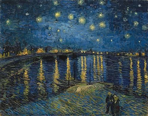 cuadros-de-paisajes - Cuadro -The starry night- - Van Gogh, Vincent
