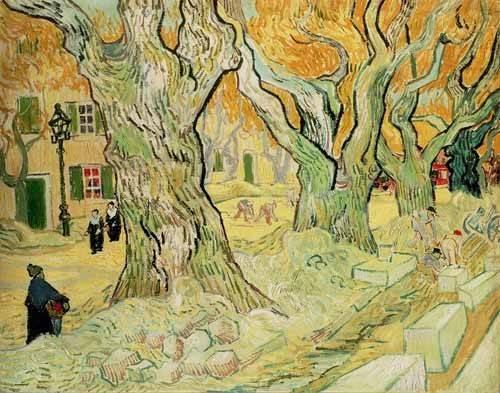 cuadros-de-paisajes - Cuadro -Los empedradores- - Van Gogh, Vincent