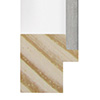 Blanco mate filo plata (30x30 mm) I-4412-681